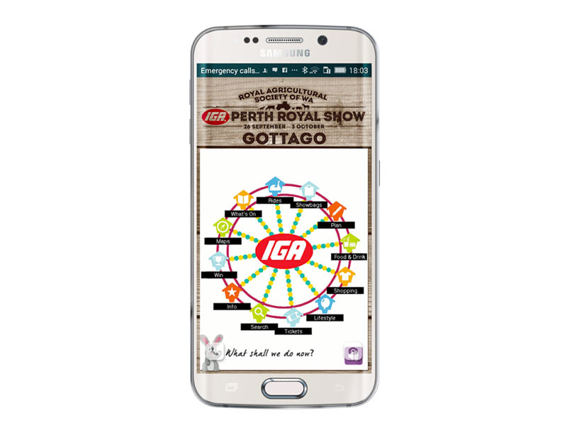 Perth Royal Show iPhone and Android app development
