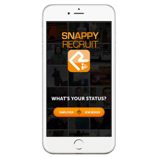 We developed the Snappy Recruit app for iPhone and Android