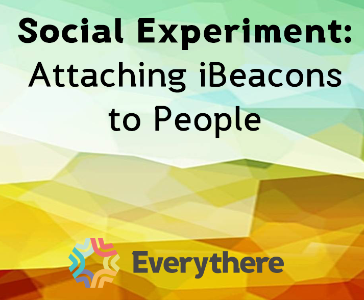 iBeacon technology on people