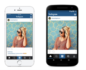 Instagram employs cross-platform development.